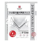 "韓國直送現貨""Leaders Clinlic Mediu 2-Step Double V-LINE Effect Whitening Mask ""(有4款可混搭)100%韓國製造:熱賣價$28"